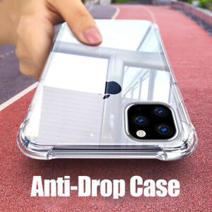Dettagli su Per iPhone 11 Pro XS Max XR 6 6s 7 8 Plus Cover protettiva in silicone antiurto
