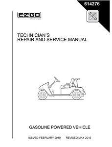 ez go e z go 2010 2013 gas txt freedom fleet valor golf cart service rh ebay com ez go txt service manual pdf ez go txt maintenance manual