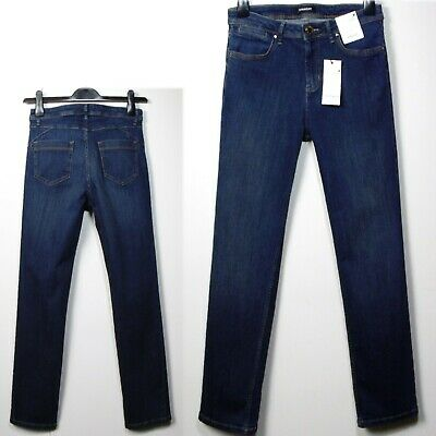 Per Una Roma Rise Black Straight Jeans Size 14 X Short Bnwt Free Sameday Postage