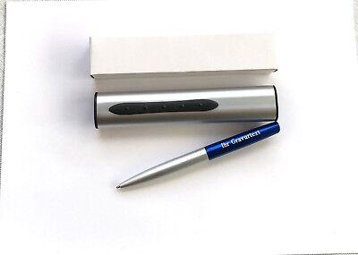 Exclusiver Metall Kugelschreiber Kuli im Metalletui mit Ihrer Diamant Gravur !
