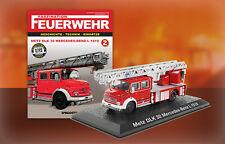 Camion Pompieri METZ DKL 30 Mercedes Benz L1519 Feuerwehr Bomberos DIE CAST 1:72