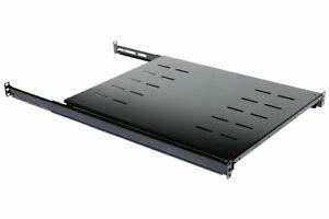 """Fixed Rack Server Shelf 1U 19/"""" 4 Post Rack Mount Adjustable 30/""""-35/"""""""