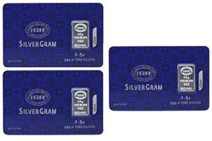 3-X-2-5-gram-Fine-Silver-Bullion-Bar-999-Istanbul-Gold-Refinery-certificated