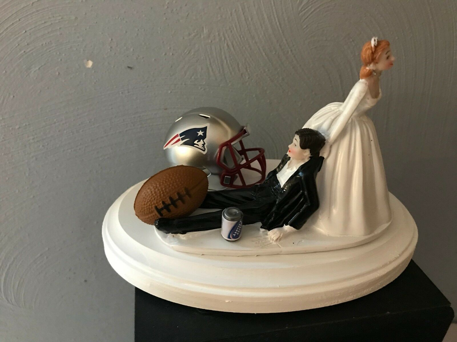 New England Patriots Cake Topper Bride Groom Groom Groom Wedding Funny Football Theme 9c9a91