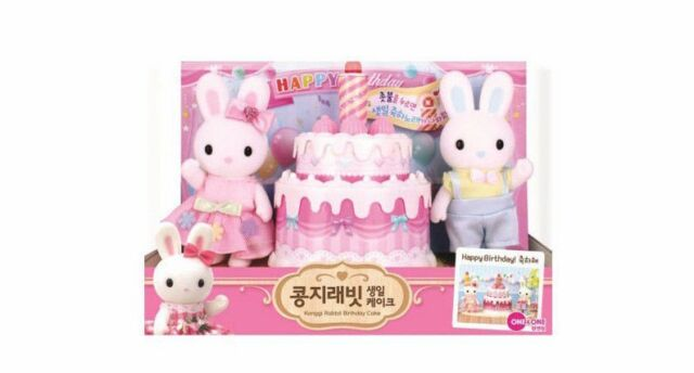 Konggi Rabbit Korean Birthday Cake Candle Kids Cute Couple Family