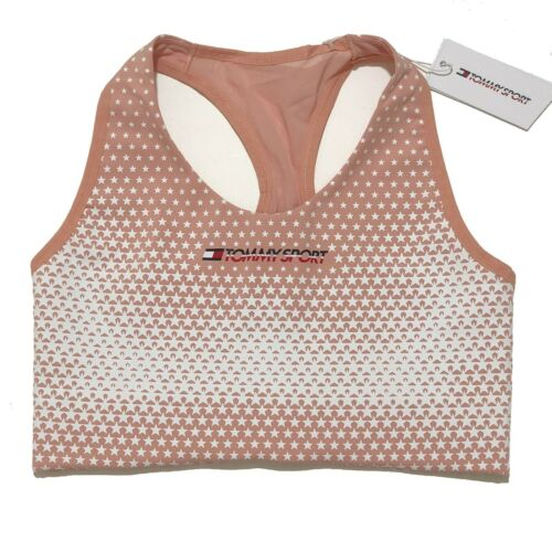 Tommy Sports Bra Tommysport Exoskeleton Dusty Pink Med Support RRP £65