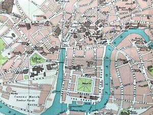 Map Of Bristol England.Details About ʖ Antique Color Map Central Bristol England 100 Authentic Original 1930