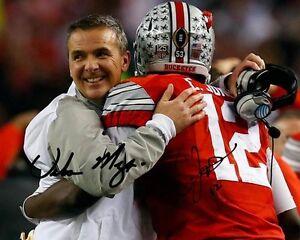 Cardale-Jones-Urban-Meyer-Hug-Ohio-State-Football-Signed-8X10-Photo-Auto-Rp
