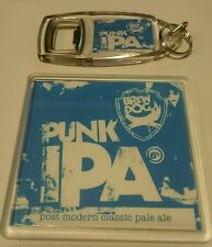 BREWDOG PUNK IPA BEER COASTER AND KEYRING SET gift bottle beer mat