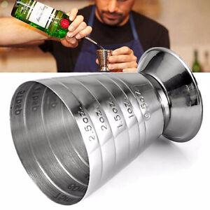 75ML-Edelstahl-Massnahme-Jigger-Spirit-Bar-Mixed-Cocktail-Beaker-Drink-Cup