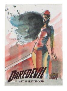 2018-Upper-Deck-Daredevil-Season-1-amp-2-Elektra-Sketch-Card-Danny-Kidwell-Netflix