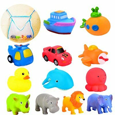 Collection Here Joyin Toy 12 Pack 3.5'' Squirt Squeaker Bath Toys With Toy Organizer For Fun B. Bathing & Grooming Baby Non-Ironing