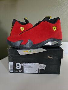 Size 9 5 Nike Air Jordan 14 Retro Challenge Red Ferrari 14s 654459 670 Bred 91203453502 Ebay