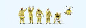 Preiser-10772-Pompiers-IN-Moderne-Vetement-D-039-Exploitation-Figurenpackung-Ho-Neu
