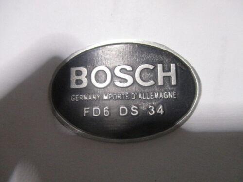 Typenschild Schild Bosch Verteiler Lima Hupe Horn 6Volt  FD6 DS 34  s20