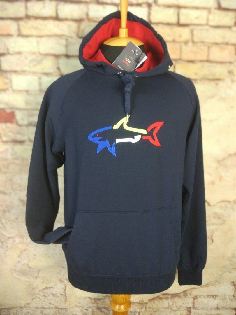 New Paul & Shark Yachting Navy Sweatshirt Hooded Größe L-3XL