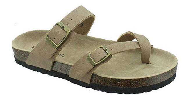 6d9639096c3 Outwoods Women s NEW Bork 30 Taupe 21321 734 Slipon Toe Loop Sandals SIZES