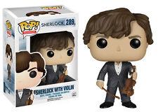 "Funko Pop TV Sherlock - Sherlock Holmes w/ Violin Vinyl Action Figure Toy, 3.75"""
