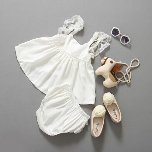 2PCS Toddler Newborn Baby Girl Dress Outfit Princess Party Tute Dress+Briefs Set