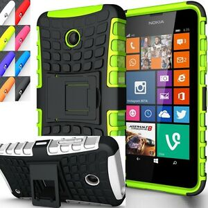 detailed look 82db7 affba Details about Shockproof Rugged Hybrid Armor Nokia Lumia 630 Kick Stand  Case Cover