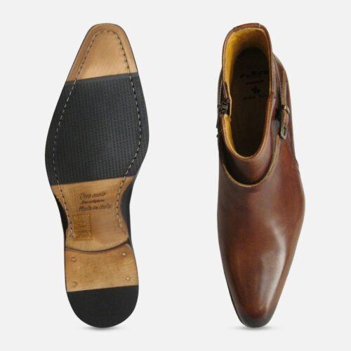 Diseñador para hombre marrón Jodhpur Botas Zip