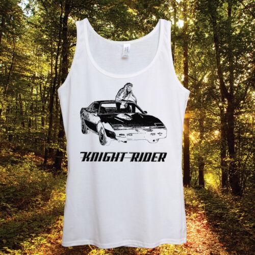 Knight Rider Kitt Tank Top  David Hasselhoff 80s Car Sport Retro Vintage Summer