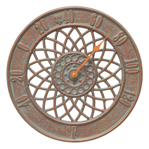 """Spiral 14/"""" Indoor//Outdoor Wall Thermometer"""
