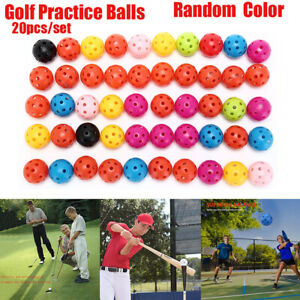 20Pcs-Golf-Practice-Training-Sports-Ball-Whiffle-Airflow-Hollow-Balls-Portable