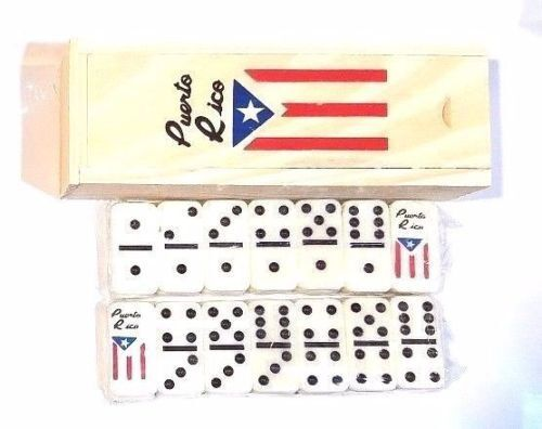 LOT OF 12 Puerto Rico Flag Double Six Dominos Dominoes Rican  TRAVEL SIZE
