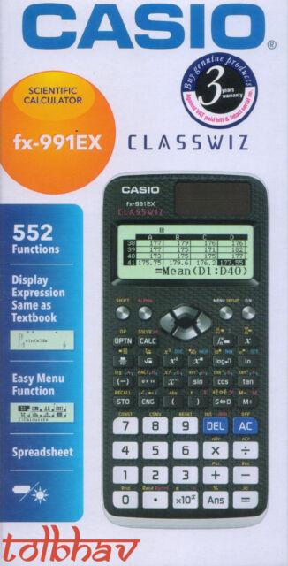 Casio FX-991EX Black Scientific Calculator FX 991 EX, 552 Functions, Classwiz