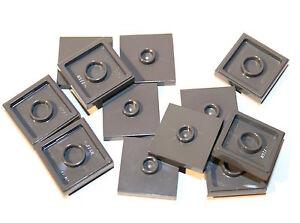 12x LEGO® Platte 2x2 mit 1 Noppe mittig 87580 Konverter Jumper NEU dunkelbeige
