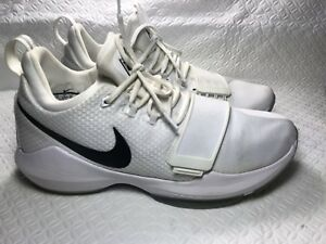 huge discount 5409c 9fc1a Image is loading Nike-PG1-Checkmate-Paul-George-White-Black-Chrome-