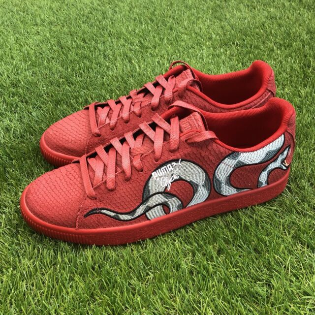 c22c3f8becb New Puma Clyde Snake Size 11 Embroidery Pack Red Skin Gold Aglet 368111-02