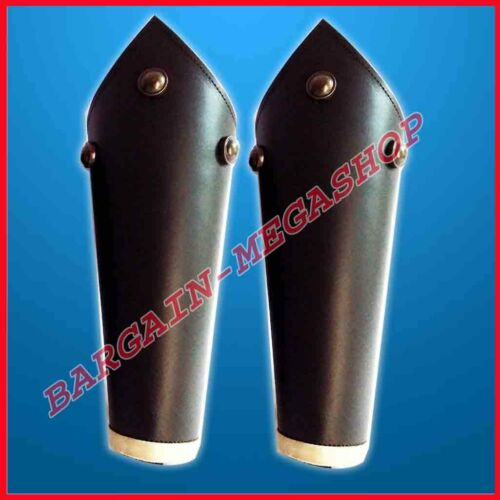 Real Leather Studded Medieval Bracer Pair Gauntlet Arm Guard Collectible Larp