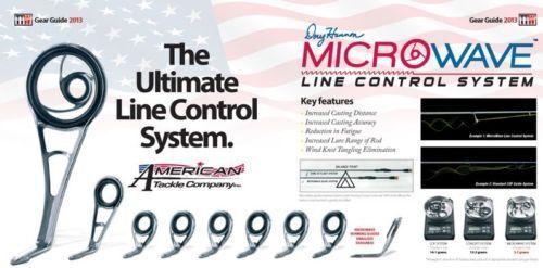 DGMW-SET American Tackle MicroWave Spinning Guides-Duralite-Gunsmoke /& Tip Top