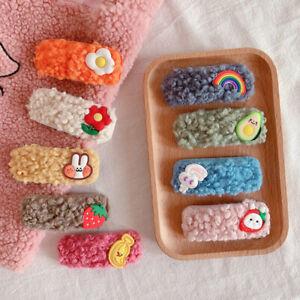 Women-Girl-Cute-Fluffy-Hair-Clip-Barrette-Hairpins-Bobby-Pin-Hair-Accessories