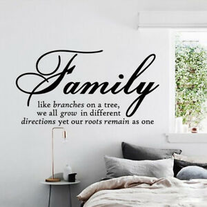 Family Letter Quote Removable Vinyl Decal Art Mural Diy Home Decor Wall Stickers Ebay