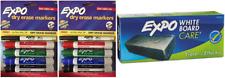 Expo 1980441 Dry Eraser Markers 4 Pack Lot Of 2 Bonus White Board Eraser