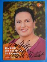 ".Ursula Maria Burkhart, ZDF Karte ""Rosenheim Cops"" - NEU (2015) -"