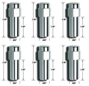 Gorilla 84137B Lug Nut Cragar SST 12 Millimeter X 1.5 Thread Size 6 PACK