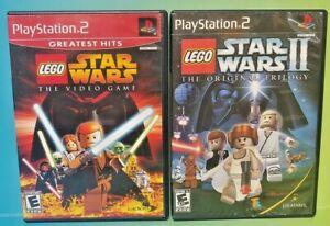 Lego-Star-Wars-1-2-I-II-Trilogie-ps2-Playstation-2-getestet-komplett-game-lot