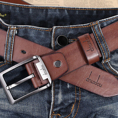 Men's Waistband Belts Trousers Pin Buckle Waist Strap Fashion