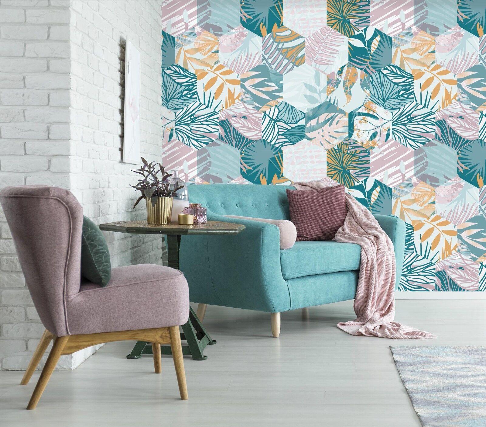 3D Simple Leaf Pattern 784 Wallpaper Mural Paper Wall Print Murals UK Summer