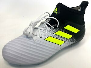 NEW-Adidas-Mens-Ace-17-2-FG-Volt-Black-White-Yellow-Football-Soccer-Cleats-7-5