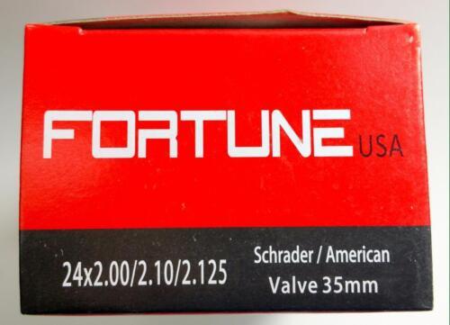 """1 Inner Tube 24x2.125 2.10 2.00 MTB ATB American Schrader Regular Valve 24/"""" inch"""