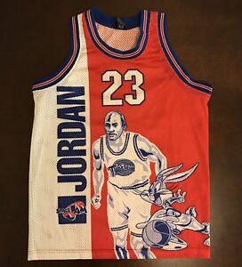 detailed look de9eb 65b73 Details about Vintage 1996 Space Jam Michael Jordan Bugs Bunny Tune Squad  Basketball Jersey