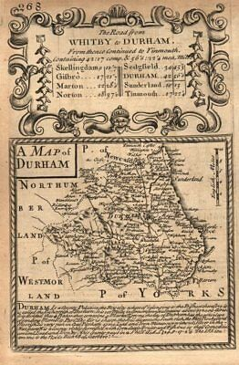 Bowen 1753 Old Antique Chart Less Expensive 'a Map Of Durham' Owen & E County Map By J