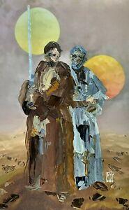 ORIGINAL-Abstract-Obi-Wan-Kenobi-Star-Wars-SciFi-Ben-Jedi-Wall-Art-Painting-17-034