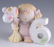 Vintage Porcelain Bumpkins Girl Age 6 Fabrizio Figurine