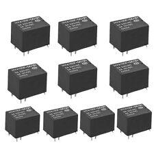 10 pcs Mini Electronic Relays DC 12V Black